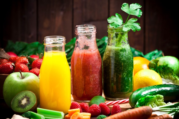 Fruit and vegetable cold juices